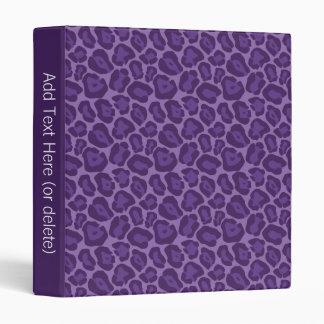Girly Purple Leopard Pattern Binder