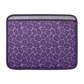 Girly Purple Leopard Pattern MacBook Air Sleeve