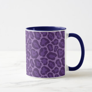 Girly Purple Leopard Pattern Mug