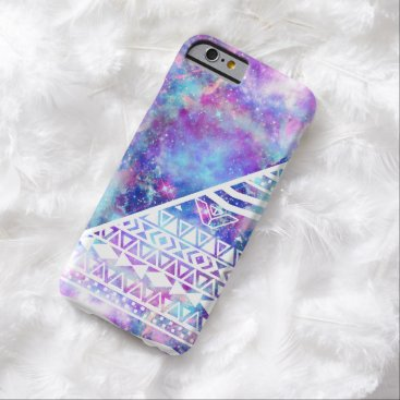 Aztec Themed Girly Purple Pink Nebula Space White Tribal Aztec Barely There iPhone 6 Case
