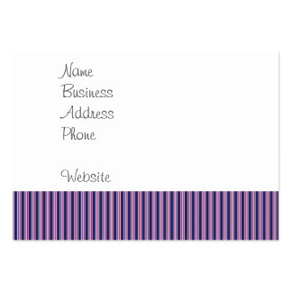 Girly Purple Striped Pattern Gifts for Her Large Business Card
