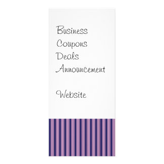 Girly Purple Striped Pattern Gifts for Her Rack Card