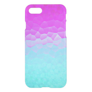 Girly Purple Turquoise Ombre Mosaic Bokeh Pattern iPhone 7 Case