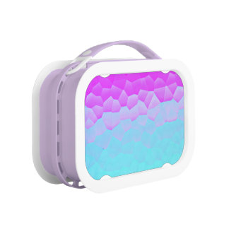 Girly Purple Turquoise Ombre Mosaic Bokeh Pattern Lunch Box