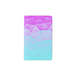Girly Purple Turquoise Ombre Mosaic Bokeh Pattern Pocket Moleskine Notebook