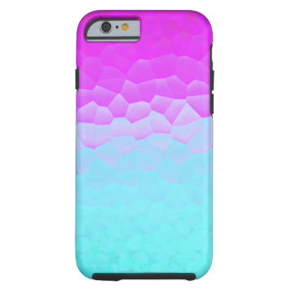 Girly Purple Turquoise Ombre Mosaic Bokeh Pattern Tough iPhone 6 Case