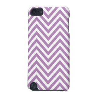 GIRLY PURPLE WHITE CHEVRON PATTERN iPod TOUCH (5TH GENERATION) COVERS