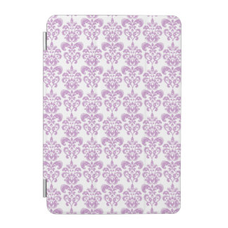Girly Purple White Vintage Damask Pattern 2 iPad Mini Cover