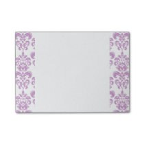 Girly Purple White Vintage Damask Pattern 2 Post-it® Notes
