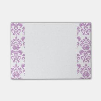 Girly Purple White Vintage Damask Pattern 2 Post-it® Notes