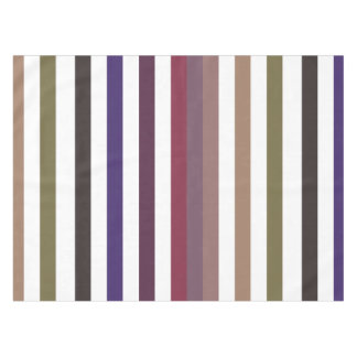 Girly Purple Wide Horizontal Stripes Pattern Tablecloth