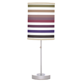 Girly Purple Wide Horizontal Stripes With Name Lamps