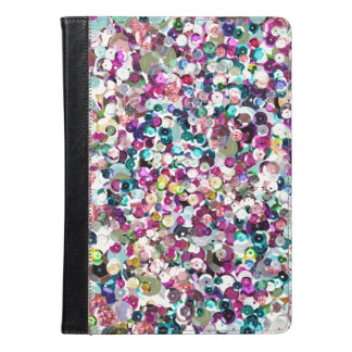 Girly Rainbow Faux Sequins Bling iPad Air Case