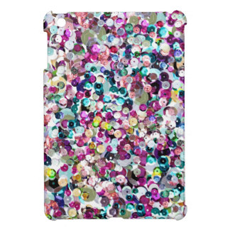 Girly Rainbow Faux Sequins Bling iPad Mini Covers