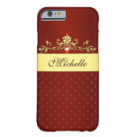 Girly Red and Gold Diamonds iPhone 6 Case