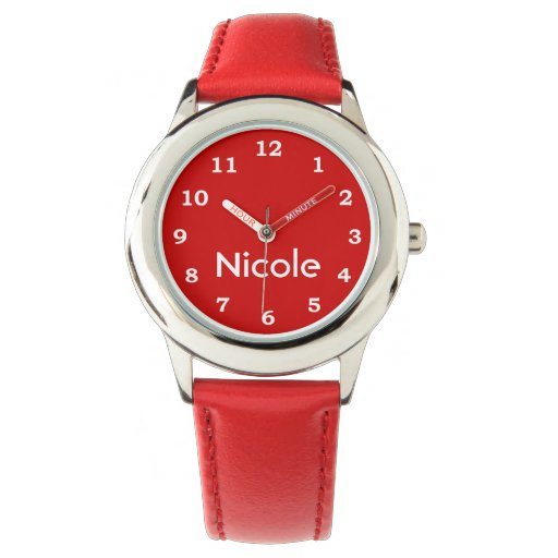 Girly Red Heart Wristwatches
