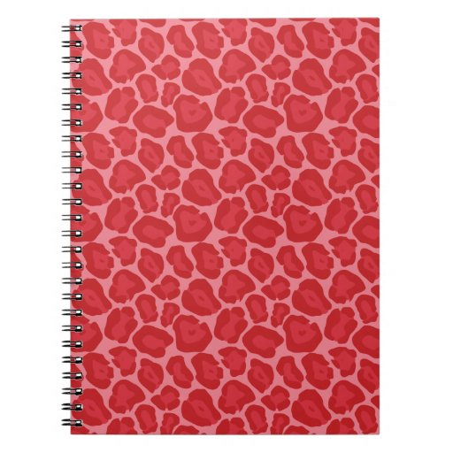 Girly Red Leopard Pattern Notebook