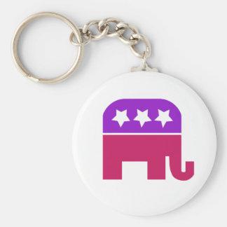 Girly Republican Keychain