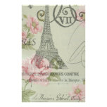 Girly retro floral vintage Paris fashion Customized Stationery