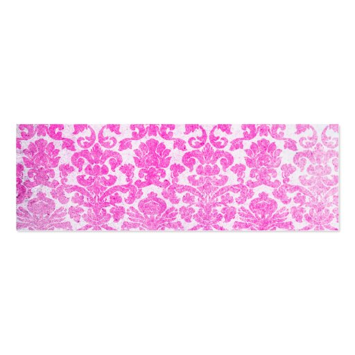 Girly Retro Pink Vintage Floral Damask Pattern Business Card Templates