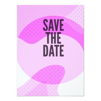 Girly Retro Save The Date 5.5x7.5 Paper Invitation Card