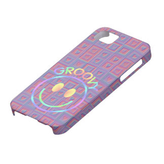Girly Retro Smiley Face Groovy Hearts Pink Purple iPhone SE/5/5s Case