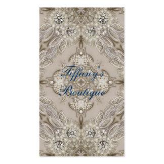 girly Rhinestone lace pearl glamorous Business Card