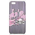 Girly Rock n' Roll Skull iPhone 5C Case