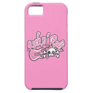 Girly Rock n' Roll Skull iPhone SE/5/5s Case