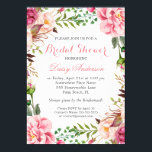 """Girly Romantic Floral Wrap Wedding Bridal Shower Card<br><div class=""""desc"""">================= ABOUT THIS DESIGN ================= Modern Pink Floral Wrapping Invitation Suite. (1) All text style, colors, sizes can be modified to fit your needs. (2) If you need any customization or matching items, please feel free to contact me. (In case you didn&#39;t get my response, please check the email SPAM...</div>"""