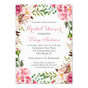 CardHunter Girly Romantic Floral Wrap Wedding Bridal Shower Card