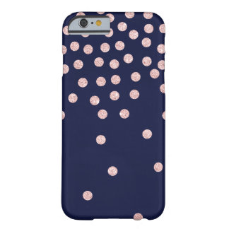 girly rose gold glitter confetti polka dots barely there iPhone 6 case