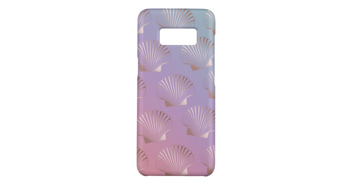 Girly Rose Gold Seashell Pattern Colorful Gradient Case Mate Samsung Galaxy Case Zazzle Com