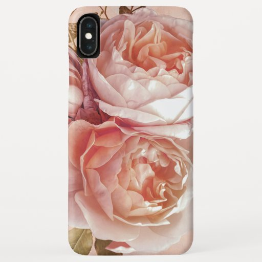 Girly Rose & Peony Elegant Modern Floral iPhone XS Max Case