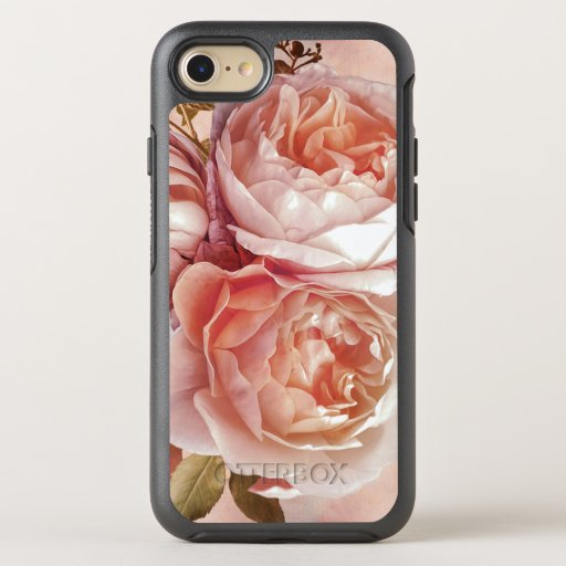 Girly Rose & Peony Elegant Modern Floral OtterBox Symmetry iPhone 8/7 Case