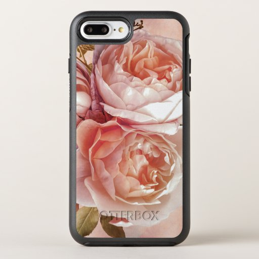 Girly Rose & Peony Elegant Modern Floral OtterBox Symmetry iPhone 8 Plus/7 Plus Case