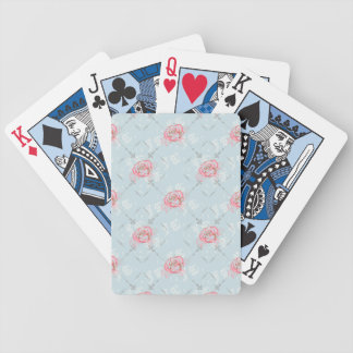 Girly Roses and Trellis Playing Cards