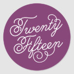 Girly Script in Plum Purple  | Graduation Sticker