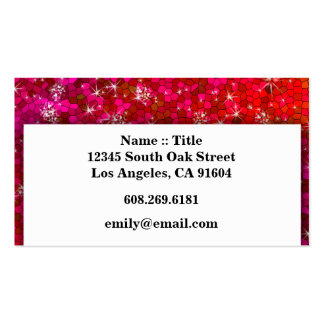 Girly Sequin Rhinestone Glitter Bling Professional Business Cards