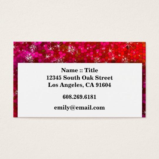 Girly Sequin Rhinestone Glitter Bling Professional Business Card