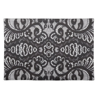 girly shabby chic bohemian black lace placemat