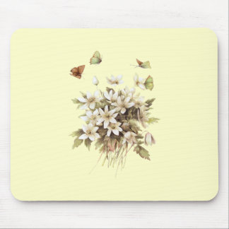 Girly shabby chic French Country floral wildflower Mouse Pad