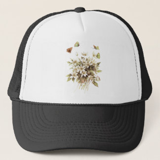 Girly shabby chic French Country floral wildflower Trucker Hat