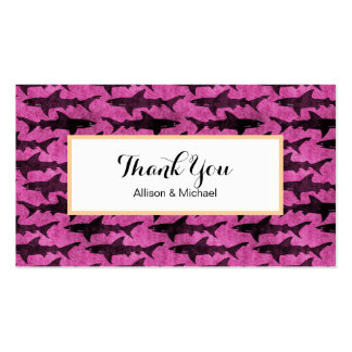 Girly Sharks Hot Pink Double-Sided Standard Business Cards (Pack Of 100)