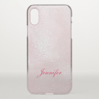 Girly  Shine PINK LAVENDER GLITTER personalized iPhone X Case