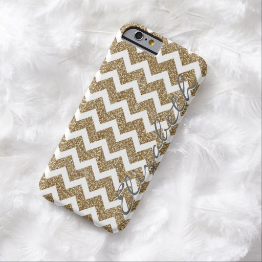 Girly shining Gold Faux glitter effects zigzag iPhone 6 Case