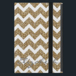 """Girly shining Gold Faux glitter effects zigzag Case For iPad Mini<br><div class=""""desc"""">Girly shining Gold Faux glitter effects chevron zigzag pattern,  white background. Personalise your name or favourite words,  or delete the name for image only,  image print.</div>"""