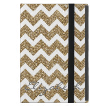 Girly shining Gold Faux glitter effects zigzag Case For iPad Mini