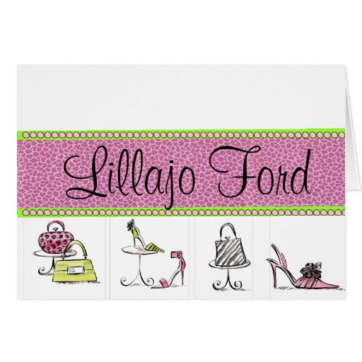 Girly Shoes and Purses Stationery Note Card