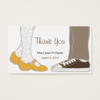 Girly Shoes & Sneakers Illustrated Wedding Business Card